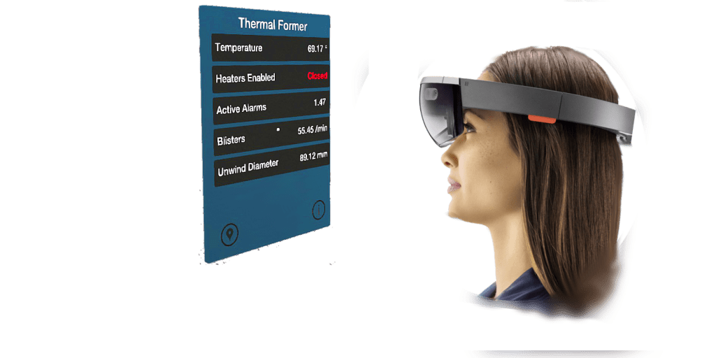 iQagent industrial AR software on the Microsoft HoloLens