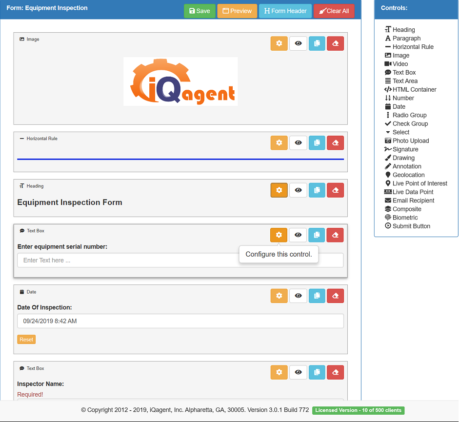 iQagent has industrial AR software solution for data entry forms